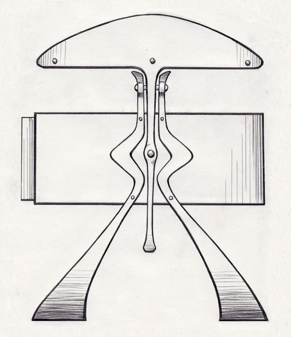 Blacksmith, Forged, Custom, Design, Daniel Hopper Design, Iron, Steel, Side Table, Mushroom