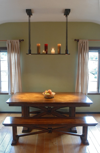 Forged, Steel, Light, Candles, Iron, Chandelier, Light Fixture, Dining