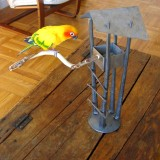 Daniel Hopper Design, Blacksmith, Metal, Iron, Forged, Bird Feeder, Table top, Custom