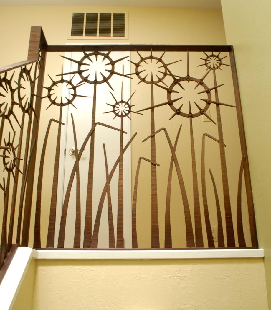 Custom, Iron, Blacksmith, Railing, Forged, Steel, Design, Daniel Hopper Design