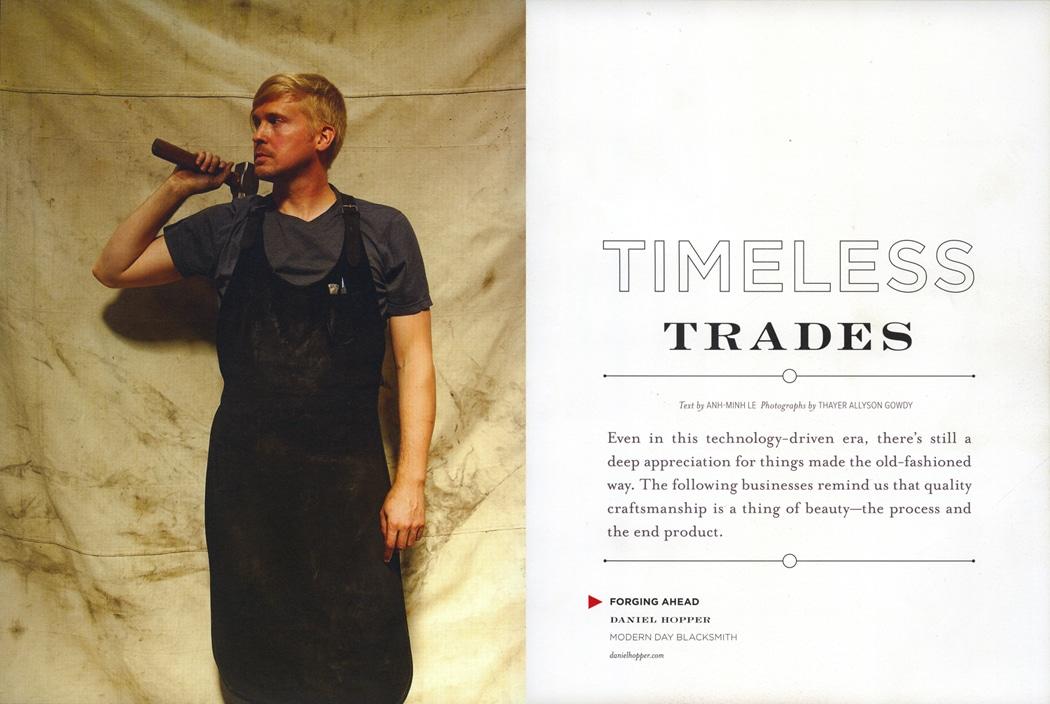 Blacksmith, Forged, Custom, Design, Daniel Hopper Design, Press