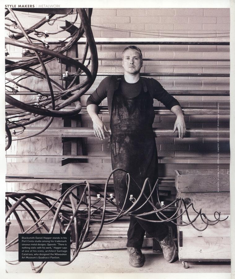 Blacksmith, Forged, Custom, Design, Daniel Hopper Design, Iron, Steel, Press, Publicity
