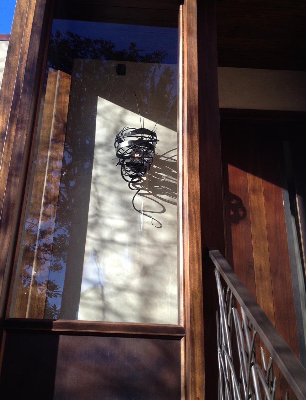Blacksmith, Forged, Custom, Design, Daniel Hopper Design, Iron, Steel, Lighting, Wasp Nest, Sconce