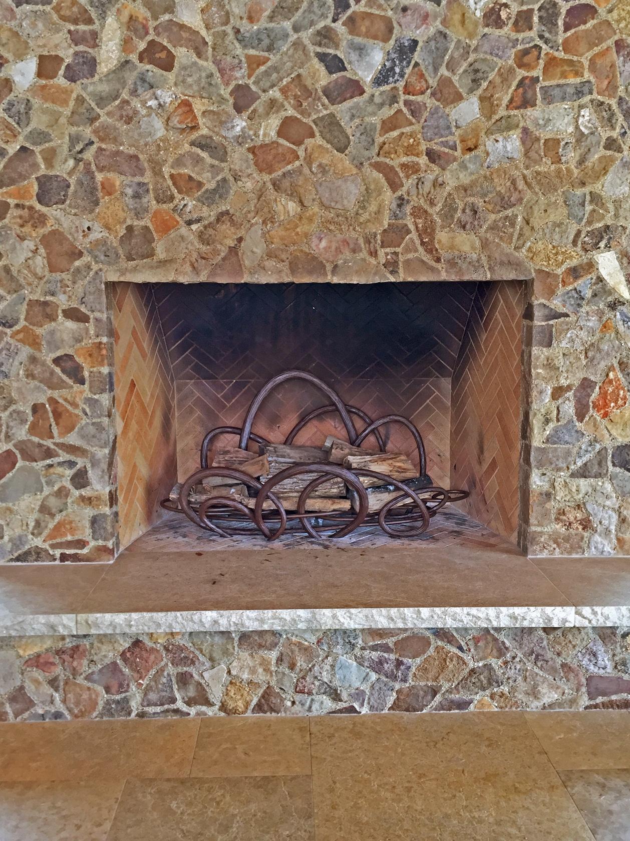 Blacksmith, Forged, Custom, Design, Daniel Hopper Design, Iron, Steel, Fireplace, Andirons, Grates, Texture
