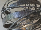 Blacksmith, Forged, Custom, Design, Daniel Hopper Design, Iron, Steel, Wasp Nest, Sconce, Lighting