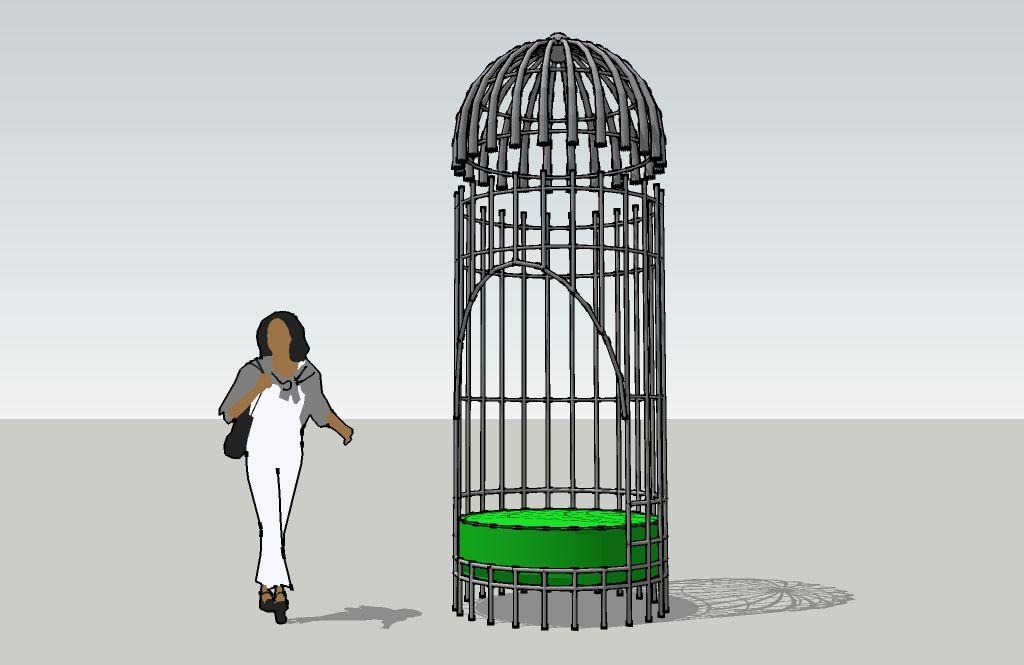 Brand-new birdcage chair   Daniel Hopper Design LX83